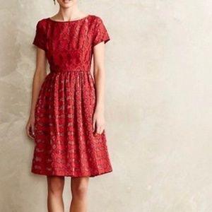 Anthropologie Moulinette Soeurs Rubied Lace Dress